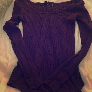 Express burgundy plum sweater
